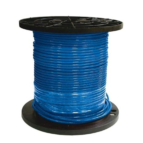 southwire 500 ft 6 blue stranded cu simpull thhn wire 20496601 the home depot