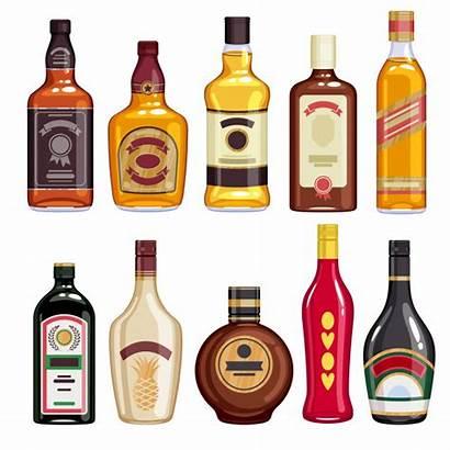 Liquor Bottles Whisky Whiskey Bottle Icons Botellas