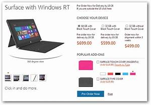 Surface Rt 2012 : microsoft announces surface rt tablet pricing available ~ Melissatoandfro.com Idées de Décoration