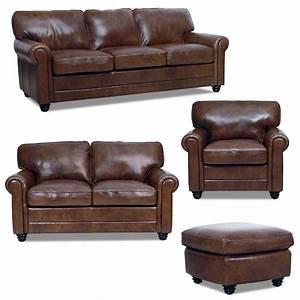 new luke leather italian brown down sofa set sofaloveseat With leather sofa set