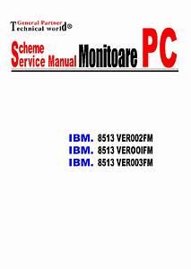 Ibm 8513 Sm Service Manual Download  Schematics  Eeprom