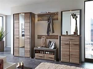 Designer Garderoben Set : garderoben set in san remo eiche nachbildung kaufen bei lifestyle4living m belvertrieb gmbh ~ Indierocktalk.com Haus und Dekorationen