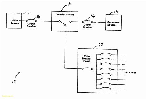 Breaker Switch Wiring Diagram by Collection Of Generator Automatic Transfer Switch Wiring