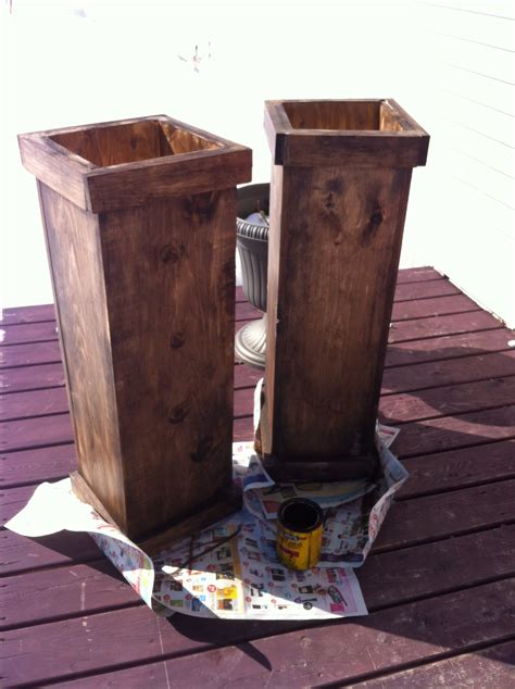 tall wooden planters  simple   inexpensive