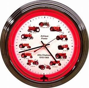 AC Wheeldial Neon Clock