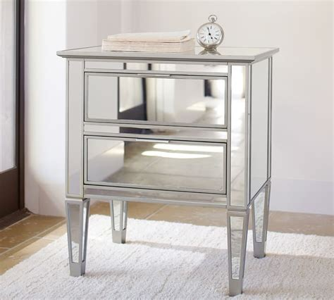 park mirrored nightstand champagne home mirror
