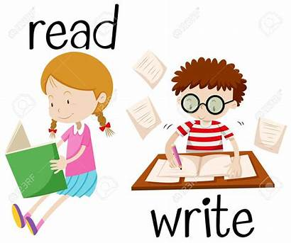 Writing Reading Boy Clip Schrijven Student Clipart