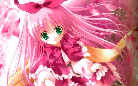 Pink anime girl wallpaper  1440x900 #14883