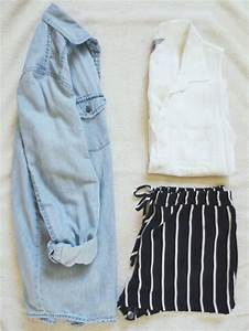 Shorts: black and white stripes, balck, white, stripes ...