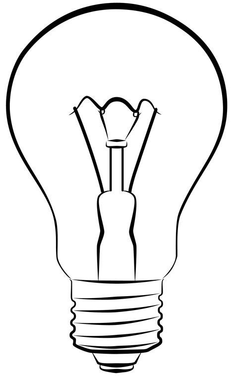 How To Draw A Light Bulb by Light Bulb Drawing Clipart Panda Free Clipart Images