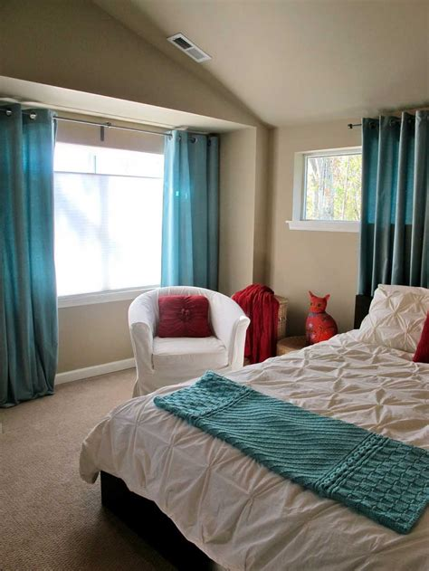 modern turquoise bedroom curtains  feng shui element