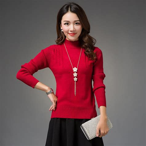 2015-Autumn-and-Winter-Sweater-Korean-Fashion-Knitted-Turtleneck-Sweaters-and-Pullovers ...
