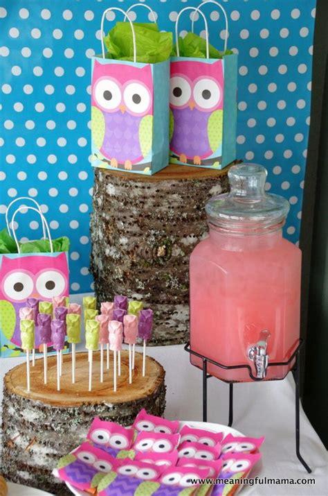 owl party ideas night owl sleepover diy owl birthday