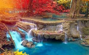 landscape, Waterfall, Nature, Trees, Thailand, Fall ...