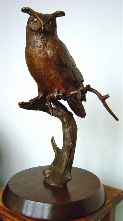 Owl Horned Bronze Sculpture Sculptures Limited Edition