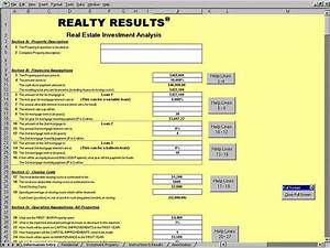 Property Investment Return Calculator Excel 5 Free Real Estate Investment Analysis Excel Spreadsheet