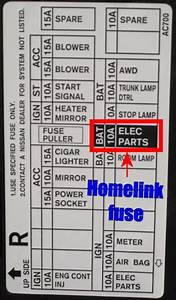 2004 Infiniti G35 Radio Fuses Diagram