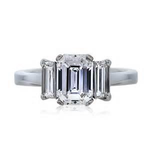 engagement rings emerald cut 1 59 carat emerald cut three engagement ring boca raton