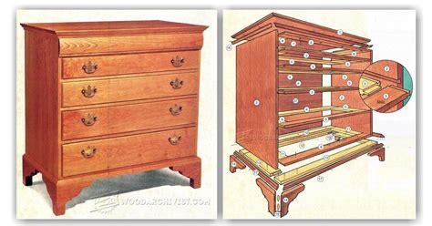 drawer dresser plans woodarchivist