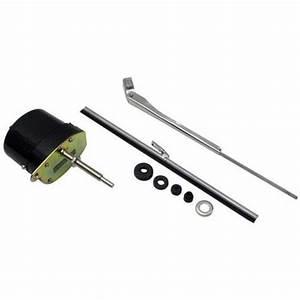 Speedway Motors Universal Hotrod Ratrod Black 12 Volt 12v Electric Wiper