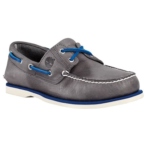 Timberland Blue Boat Shoes Mens by Lyst Timberland Classic Leather Boat Shoes In Blue For
