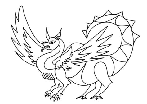 Dragon Fox coloring page Free Printable Coloring Pages
