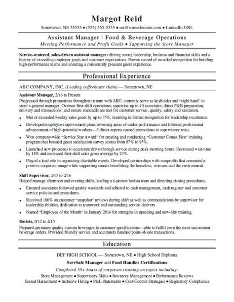 Assistant Manager Resume by Assistant Manager Resume Sle