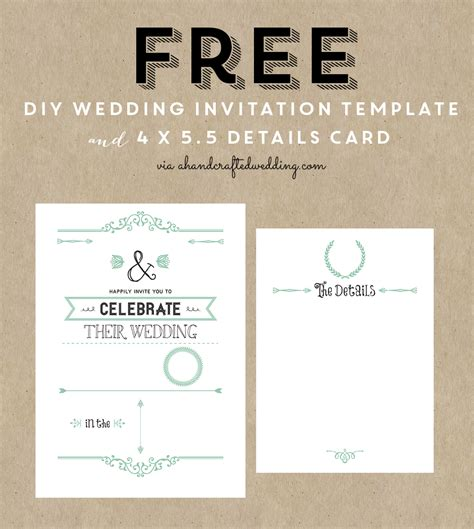 wedding invite template download free rustic wedding invitation templates best template