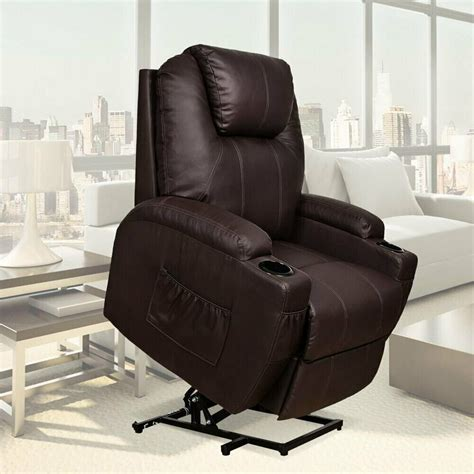 Electric Lift Recliners by Electric Power Lift Chair Recliner Heated Sofa
