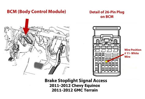 Gmc Brake Controller Wiring Diagram by Obtaining Brake Stoplight Switch Signal For Brake