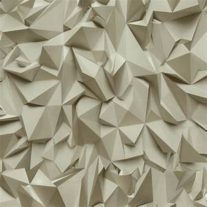 P&S 3D Effect Triangle Pattern Geometric Textured ...