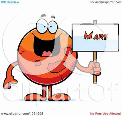 Mars Planet Clipart Sign Illustration Holding Royalty