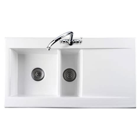 porcelain kitchen sink reviews 1 5 bowl kitchen sink reginox white ceramic 1 5 bowl 4330