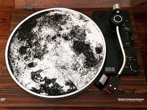 record player slip mat turntable slipmat the moon