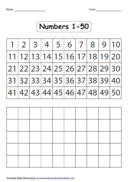 images  large printable number chart