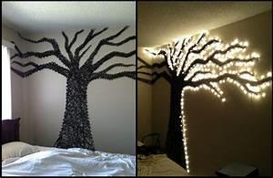 Christmas light wall art use driftwood and lights to memes