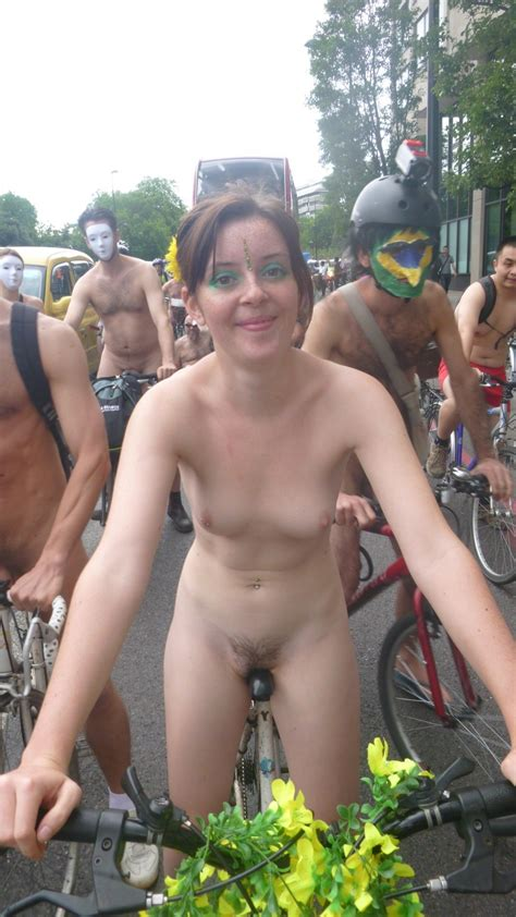 Naked In Public Riding Her Bike In The Street Wnbr Part