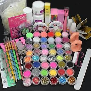 Us seller in full acrylic nail art tips set