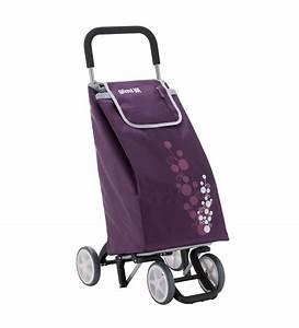 Gimi Twin 4 Wheel Shopping Trolley-Burgundy by Gimi Online