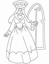 Queen Coloring Pages Medieval Princess Holding King Drawing Xenomorph Printable Scepter Face Alien Sketch Getdrawings Template Pdf Sensational sketch template