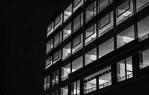 Black, And, White, Night, Building, House, Monochrome ...