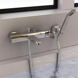 robinet mitigeur bain mural smart et douchette With robinetterie murale salle de bain