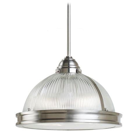 brushed nickel pendant light farmhouse prismatic glass pendant light brushed nickel