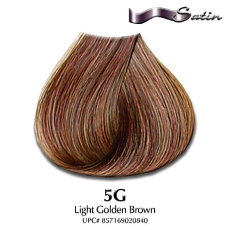 satin hair color satin hair color 5g light golden brown hair coloring