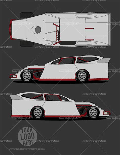 race car template dirt modified template 1 srgfx
