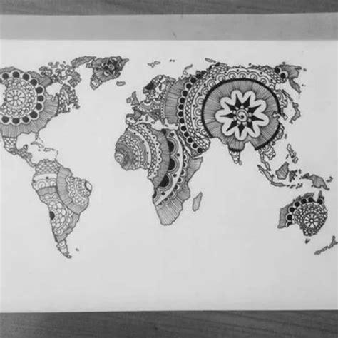 mandala world rad tattoos map tattoos hand tattoos