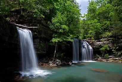 Falls Twin Arkansas Creek Newton County Wilderness