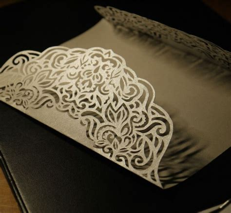 pin  laser cut wedding invitations