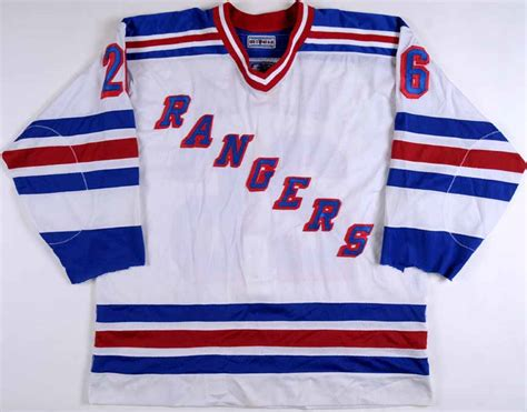 1996-97 David Oliver New York Rangers Game Worn Jersey ...
