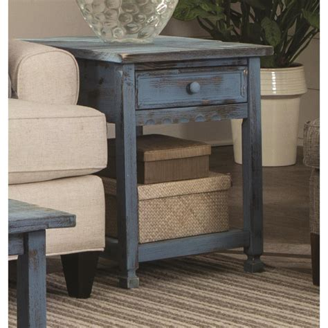 Country Cottage Furniture Alaterre Furniture Country Cottage Rustic Blue Antique End